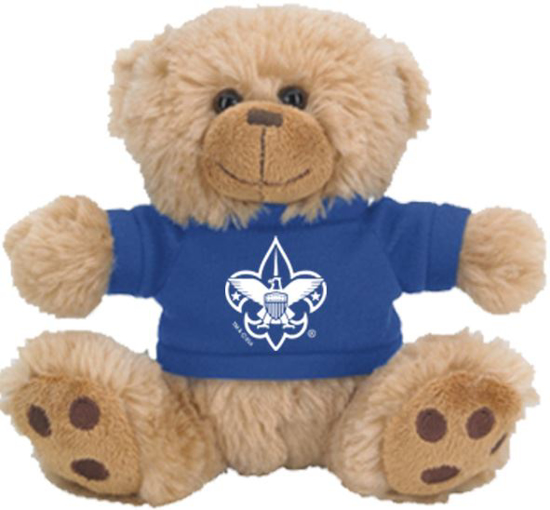 "Picture of 6"" Sitting Bear w/ BSA® Branding"