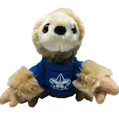 "Picture of 6"" Sitting Sloth w/ BSA® Branding"