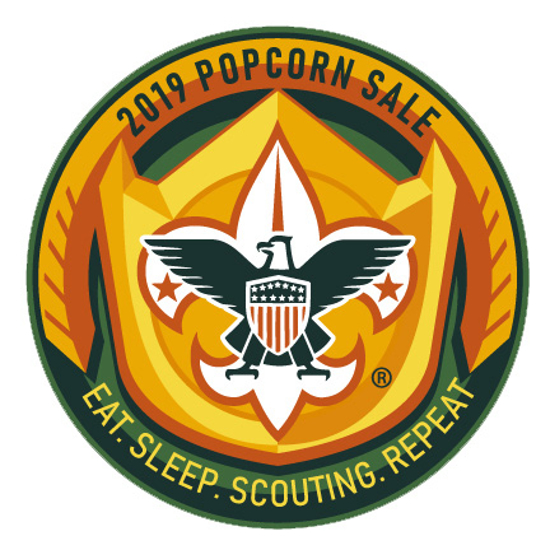 Picture of Popcorn Sale Patch - Eat.Sleep.Scout.Repeat.